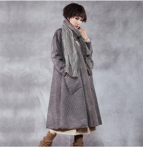 jacket The with women's pocket GAOXU stitching cotton art original new long female Lingge winter padded vwpRqd0