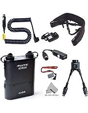 Fomito Godox PB960 Portable Extended Flash Power Battery Pack Kit Dual Output for Nikon SB910, SB900, SB800, SB28 Euro, SB28DX, SB80DX,for AD600 AD360 II AD180, for Mobile Phone Black