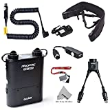 Fomito Godox PB960 Portable Extended Flash Power Battery Pack Kit Dual Output for Nikon SB910, SB900, SB800, SB28 EURO, SB28DX, SB80DX,for AD600 AD360II AD360 AD180, for Mobile phone Black