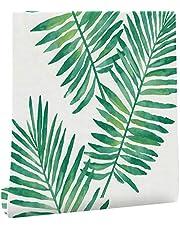 MagicValley Zelfklevende Decoratieve Hawaiiaanse Tropische Palm Plank Liner Meubelsticker Papier Behang voor Muren Kasten Dressoir Lade Tafelkast Backsplash Kunst Ambachten Verwijderbare 45CMX3M