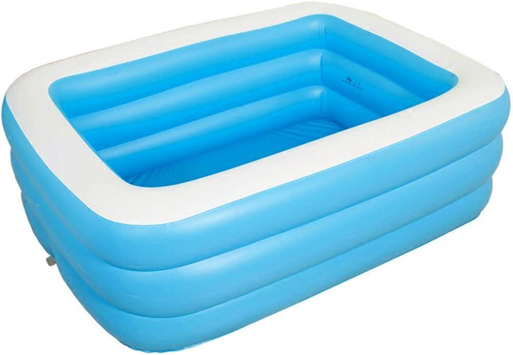 Bathtubs Bañeras inflables Bebes Bañera Hinchable, Piscina para Adultos de bañera Plegable Rectangular - Azul (Tamaño : 125cm*85cm*45cm)