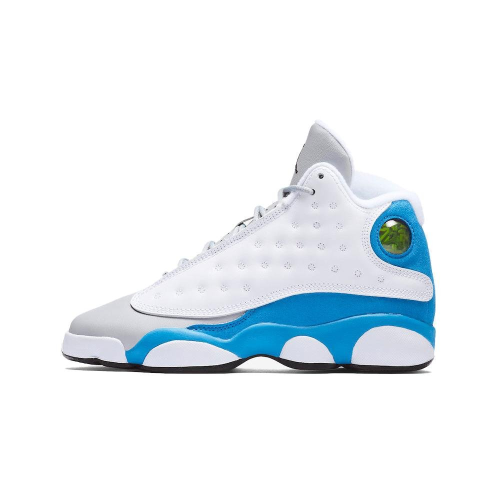 NIKE Air Jordan 13 XIII Retro White Italy Blue GS BG Youth Kids Boys 439358-107 US Size 8Y