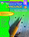Language Arts Teach and Test 4, Sally Fisk, 0887247717