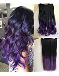 Amazon Com Purple Hair Extensions Extensions Wigs