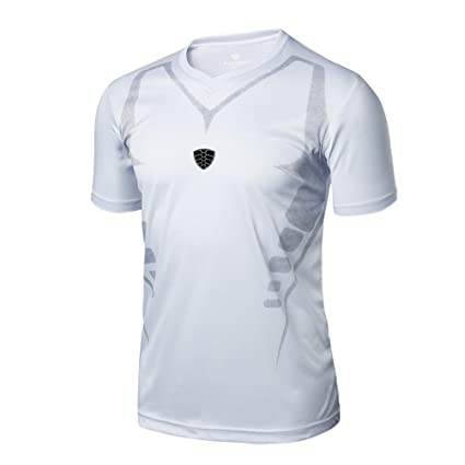 c01d7188fe Camisa de hombre Camiseta Térmica de Compresión de manga corta Para Hombre  Slim Fitness Running Yoga