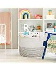 Large Storage Woven Basket, Decorative Basket for Toys, Blankets,Laundry, Towel, Magazine, Baby Nursery Basket by Braided Crown