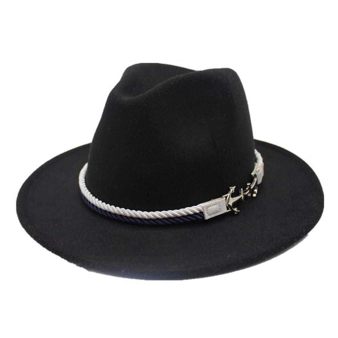 Fedora Hats Classic Timeless Warm Wool Felt Hat Winter Unisex Elegant Vintage Wide Brim Jazz Cap Bowler Hat