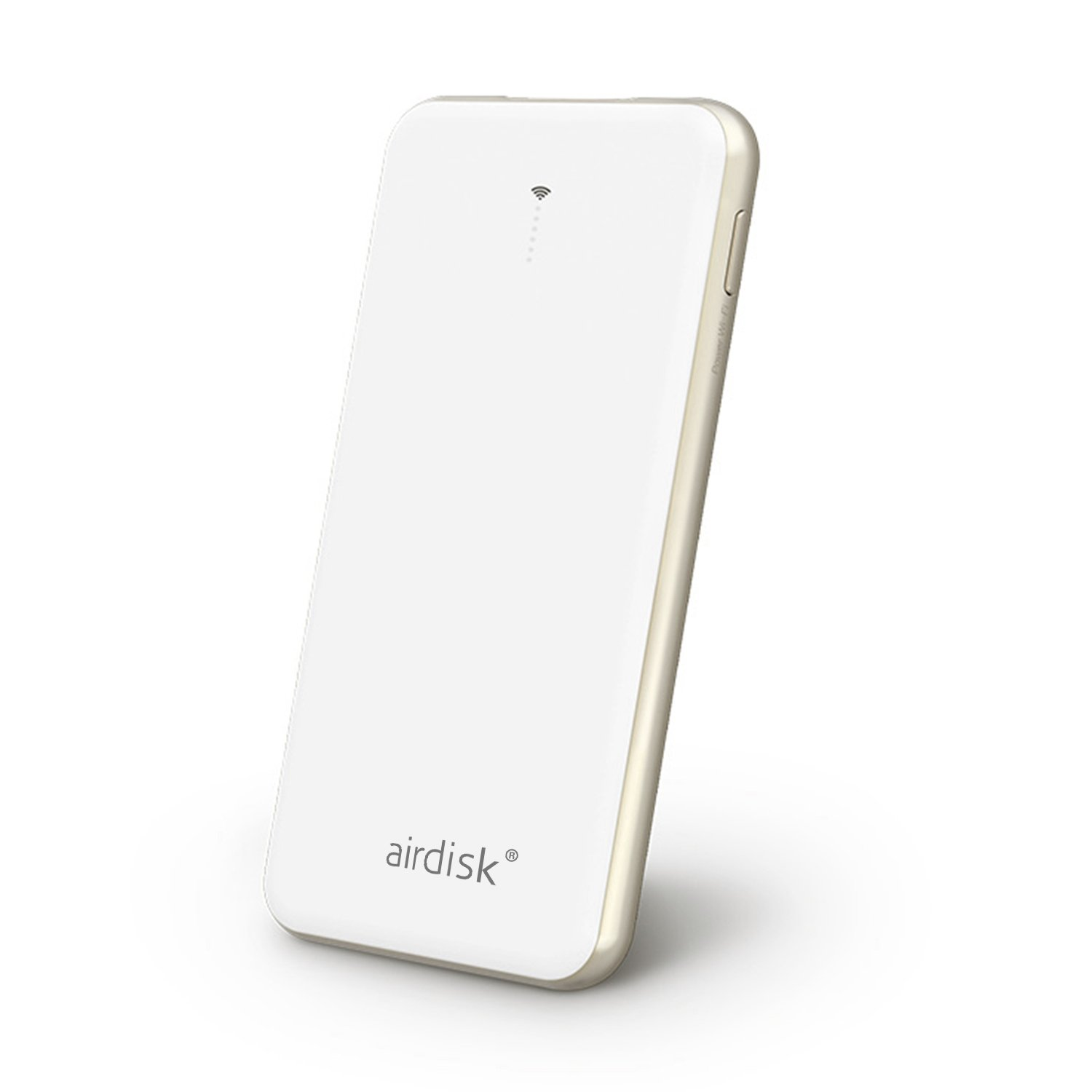 airdisk A7 2 in 1 64GB Wireless Flash Drive with Powercore 4000mAh External Battery Power Bank for for iPhone, iPad, Samsung Galaxy (White)-A7
