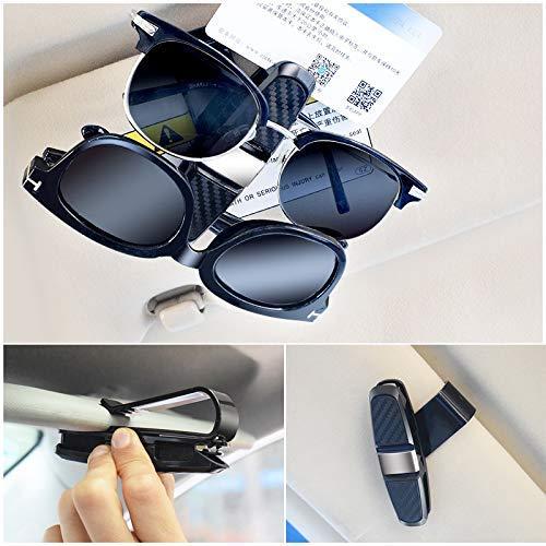2 Pack Sunglasses Eyeglasses Mount with Ticket Card Clip Black LEMESO Glasses Holders for Car Sun Visor