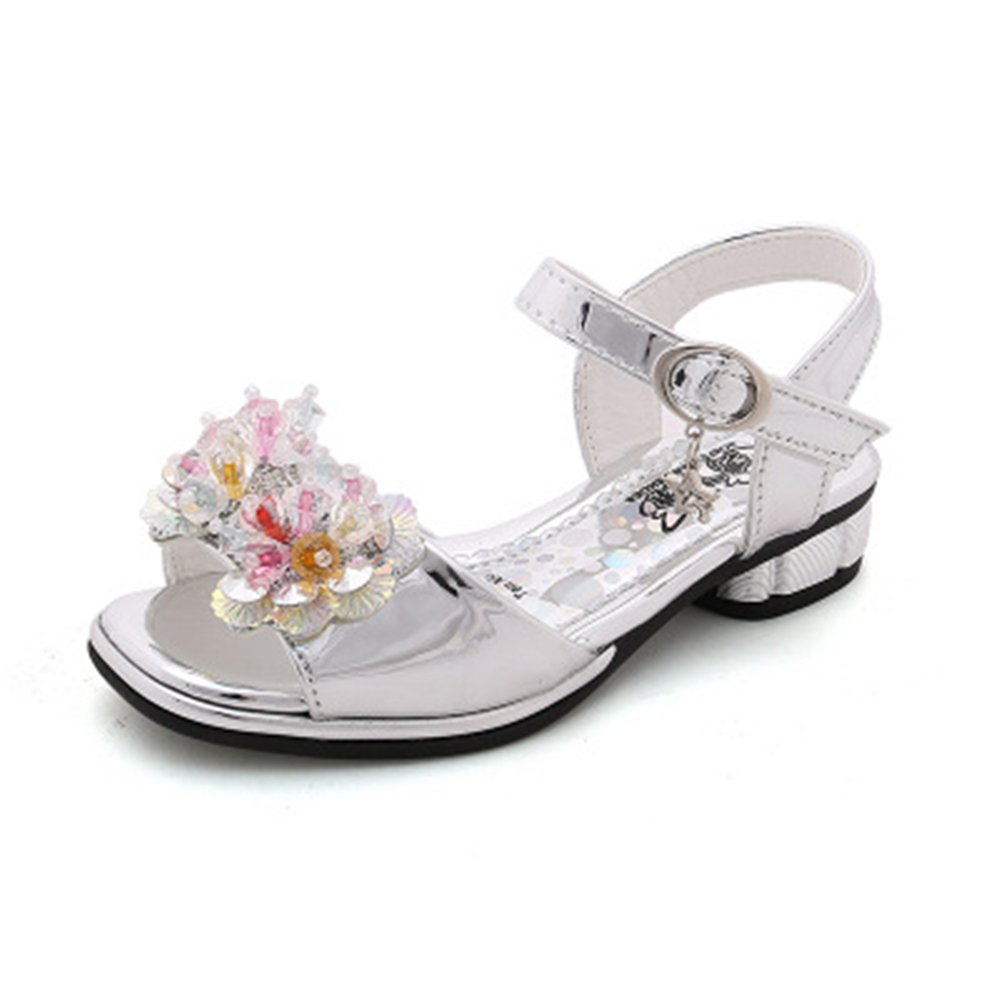 IINFINE Kids Girls Fashion Open Toe Flat Strap Sandals Beach Casual Shoes