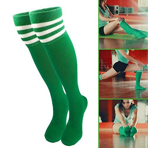 Mo Ko Ko Knee High Socks  Women Knee High Socks  Green Knee Socks  Ladies Knee High Socks  Green Long Socks  Green Knee High Socks  High Knee Socks For Women  Green  1 Pair