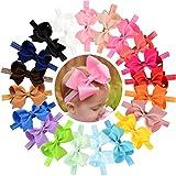 Hair Bow Headband Baby Newborn Infant Girls Toddler 4 inches 20 PCS Elastic