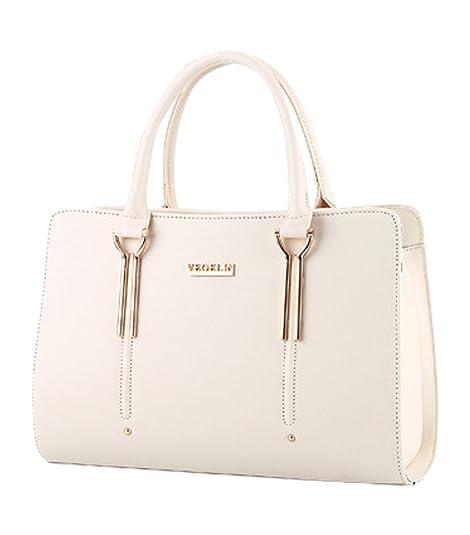 6685d83ca4 MissFox Borsa Shopping Bag Elegante Donna Vari Colori Beige: Amazon.it: Scarpe  e borse