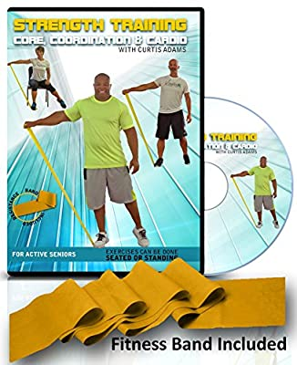 Senior Exercise Video Fitness DVD: Strength Training, Core, Coordination & Cardiovascular (heart health) with Curtis Adams. Includes Resistance Band!