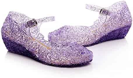 c27ffc73abc Jelly Sandal for Girls Princess Girls  Sparkle Dress up Cosplay Heel Jelly  Shoes