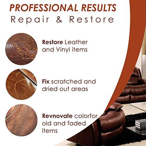 SEGMINISMART Crème Réparatrice Cuir,Kit Rénovation Cuir,Pâte Réparatrice Cuir,Adapté for Le Cuir Lisse/Chaussures/Sacs… 2