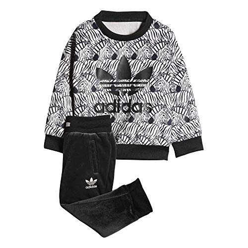Adidas Kids(Infant) Originals Zebra Crew Set (4T, Clear ()