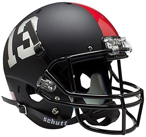 NCAA Fresno State Bulldogs Black Replica Helmet, One Size, White by Schutt