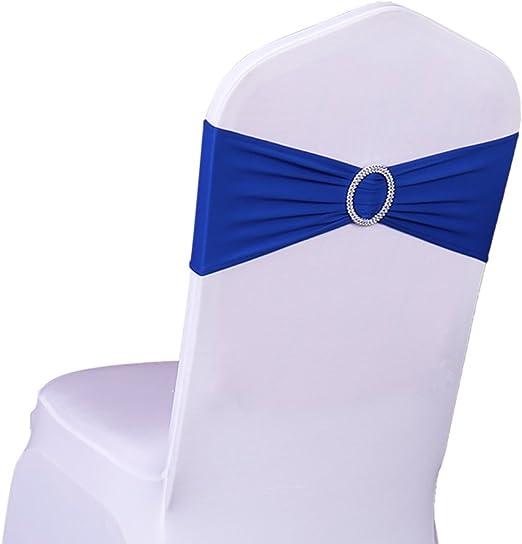 25~50~100//PACK Spandex Chair Sash Lycra Stretch Bow Buckle Slider Wedding Party
