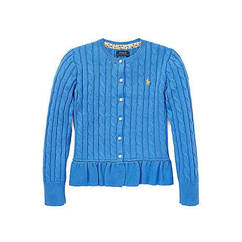 Ralph Lauren Girls Cardigan Sweater - Polo Ralph Lauren Girl's Cotton Peplum