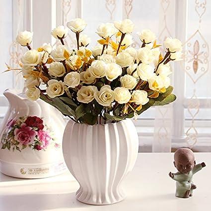 Beata. T Continental emulación rosa Artificial flores adornos Sala de estar mesa de comedor,