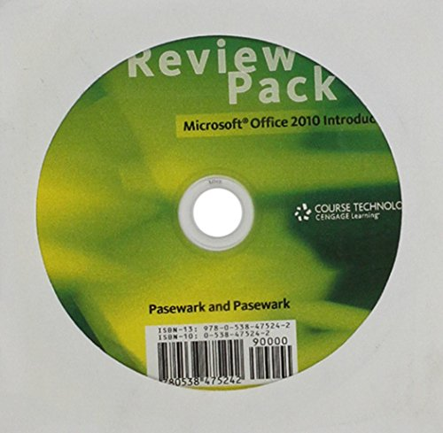 Review Pack for Pasewark/Pasewark's Microsoft Office 2010: Introductory