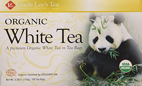 Uncle Les's Tea- Organic White Tea, premium organic White Tea in Tea Bags 100ct