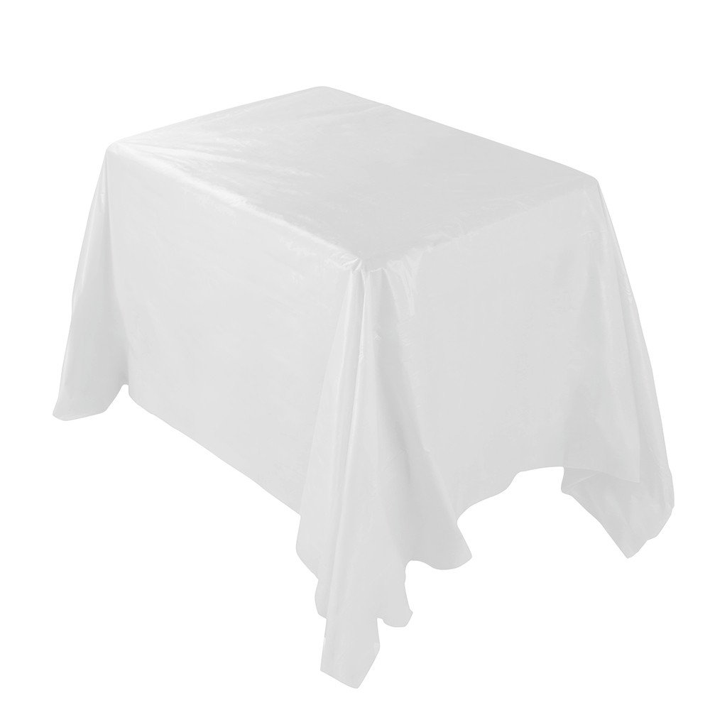 -Disposable Tablecloth Rectangle Table Covers Waterproof Oil-proof Tablecloth Plastic Disposable Table Runner for Table Decor, 53.9X107.9'' 1PC (Beige)