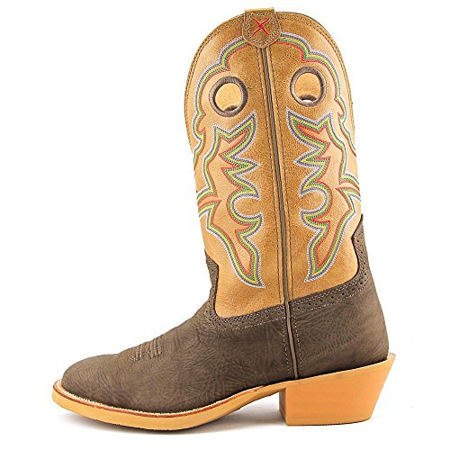 Twisted X Mens Crazy Horse Ruff Lager Cowboy Boot Rund Tå - Mrs0044 Brun