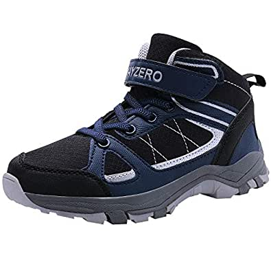 MAYZERO Kids Shoes Winter Ankle Boots Non-Slip Tennis Shoes Running Sneakers for Boys and Girls
