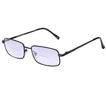 f5d92b8f039 Image Unavailable. Image not available for. Color  LianSan Bifocal Metal Womens  Mens Oversized Reading Glasses Fashion ...
