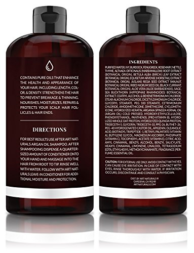 ArtNaturals Argan Oil Hair Conditioner 16 Oz Sulfate Free Best Treatment For Damaged Dry Hair Made With Organic Ingredients Keratin For All Hair Types Safe For Color Treated Hair