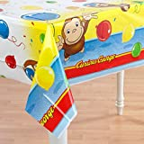 Curious George 54in x 84in Plastic Tablecover