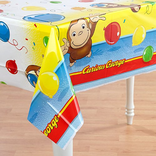 [Curious George 54in x 84in Plastic Tablecover] (Tv Show Based Halloween Costumes)