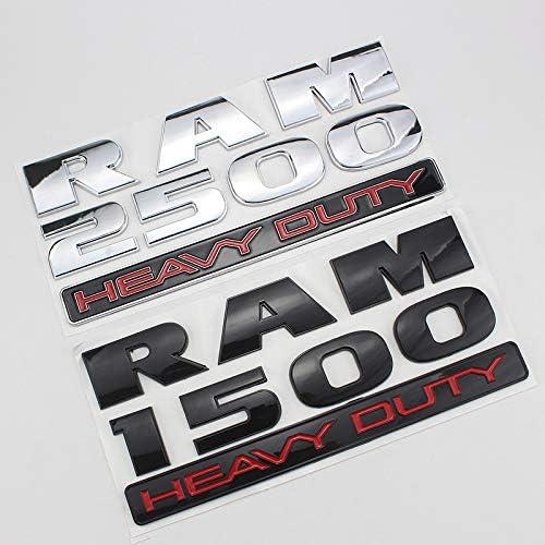 None Brand Auto Abziehbild Aufkleber Badge Ist Geeignet Für Dodge Ram 1500 2500 3500 Heavy Duty Labeling Ram Pickup Truck Modified Car Logo Color3 Küche Haushalt