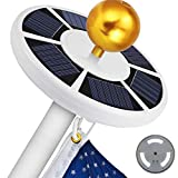 Blinngo Solar Flag Pole Light, Flagpole Solar Light 6V 42 Super-Bright LED Long-Lasting