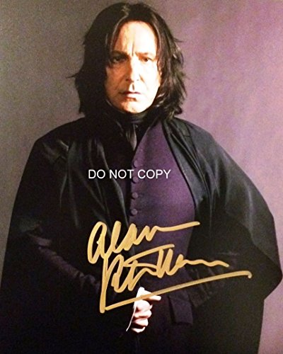 (Alan Rickman signed autographed reprint photo as Professor Snape from Harry Potter #1 RP)