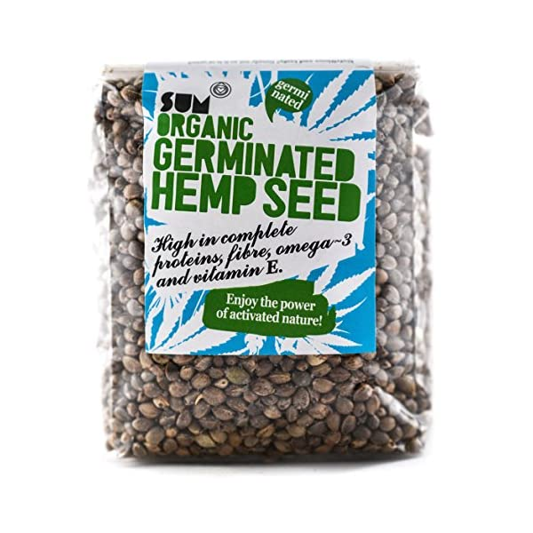 Germinated Hemp Seeds, in Eco Biodegradable Packaging – Organic – Raw – 200g