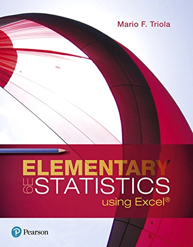 Elementary Statistics Using Excel (6th Edition)