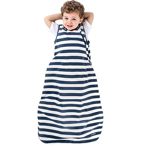 Woolino Organic Cotton Baby Sleeping Sack, Infant Sleeper Blanket, 0-6 Mo, Navy