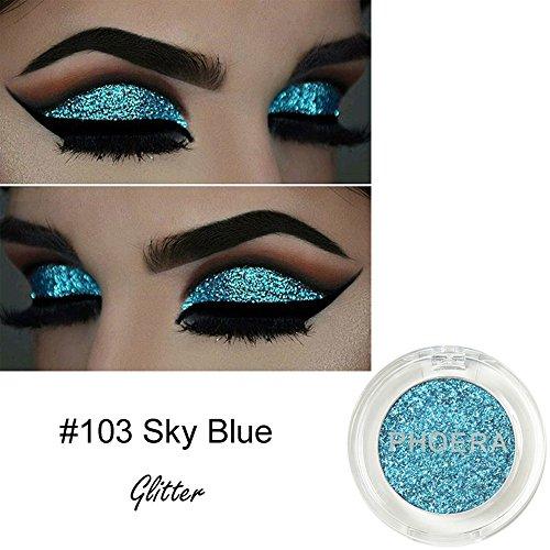 (Makeup Shimmer Color Eyeshadow Metallic Metallic Glitter Eye Cosmetic (C))