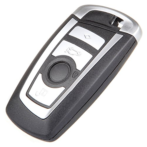 SCITOO 1X New Uncut Car Key Fob Keyless Entry Remote 4 Buttons Replacement fit BMW 5 7 Series KR55WK49863 by SCITOO