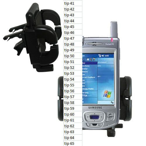 Innovative Vent Cradle Vehicle Mount designed for the Samsung SGH-i700 - Adjustable Vent Clip Holder for Most Car / Auto Vent Systems