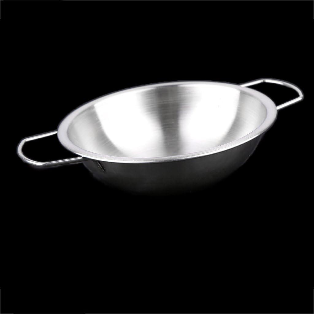 Set Da Confezione 10 Giocattolo Cucina Utensili Pentola Pentolame Finta Capretto Acciaio Inox Argento
