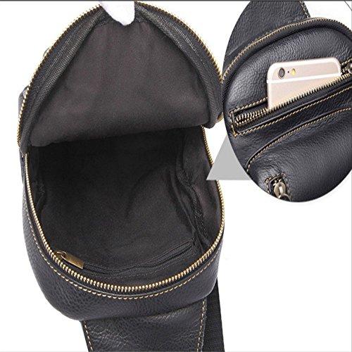 sola del pequeña Cruz Pecho cuero general par paquete hombres moda bolso penao bandolera oblicua Cruz paquete Black vPEpOnx