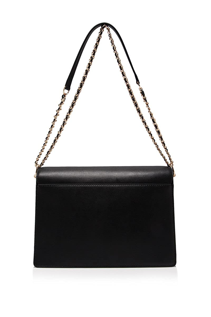 35add0d83dc2 Amazon.com  Tory Burch Large Parker Convertible Leather Shoulder Bag ~ Black   Clothing