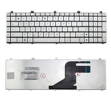 Nuevo teclado para ordenador portátil ASUS N55S N55SF N55SL n55sn N55 X N75 N75S N75SL P/N: aenj5u01010 0 KNB0 - 7200us00 nosotros diseño de color plateado: ...