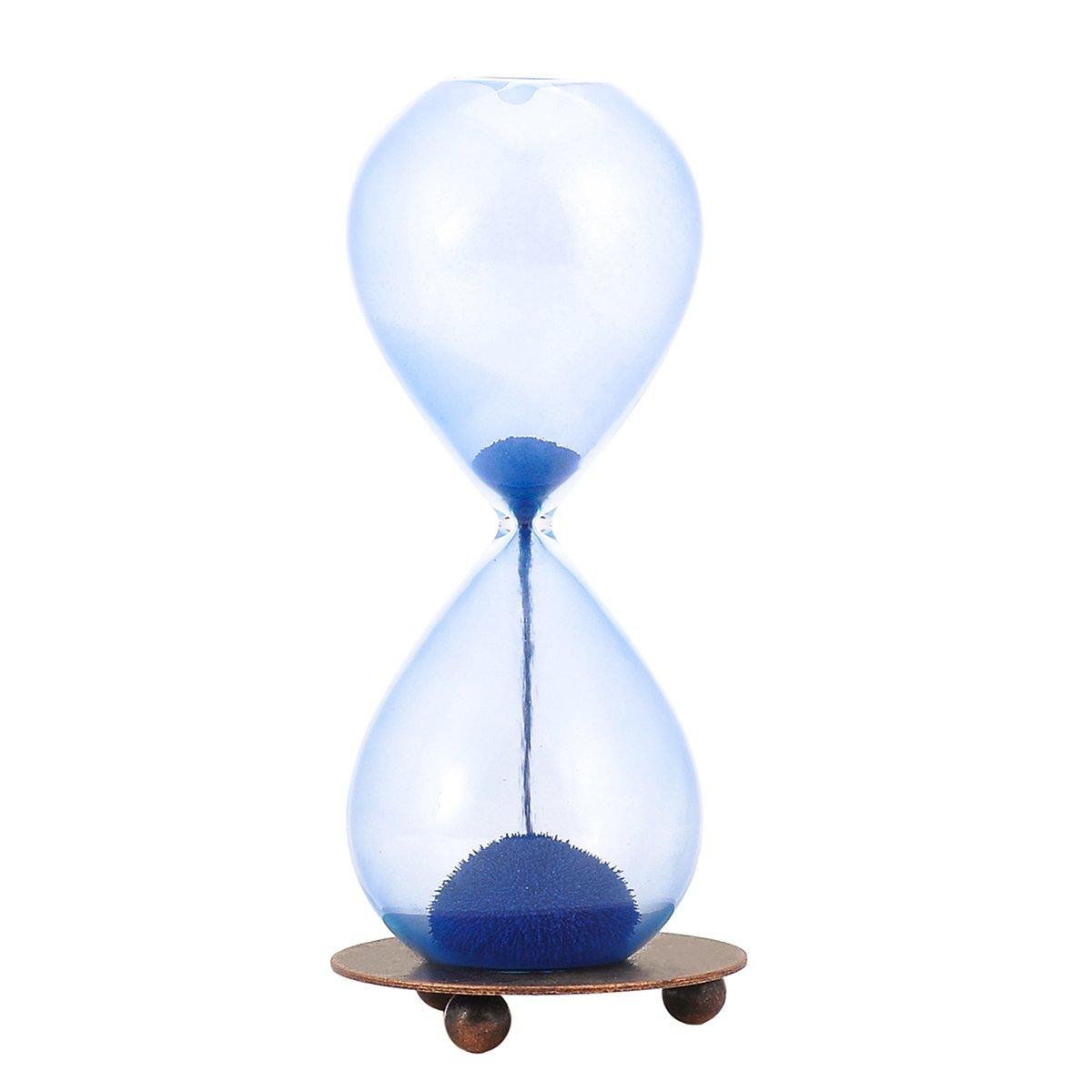 15/cm Weiye Sablier magn/étique et cr/éatif en verre robuste Cadeau sympa