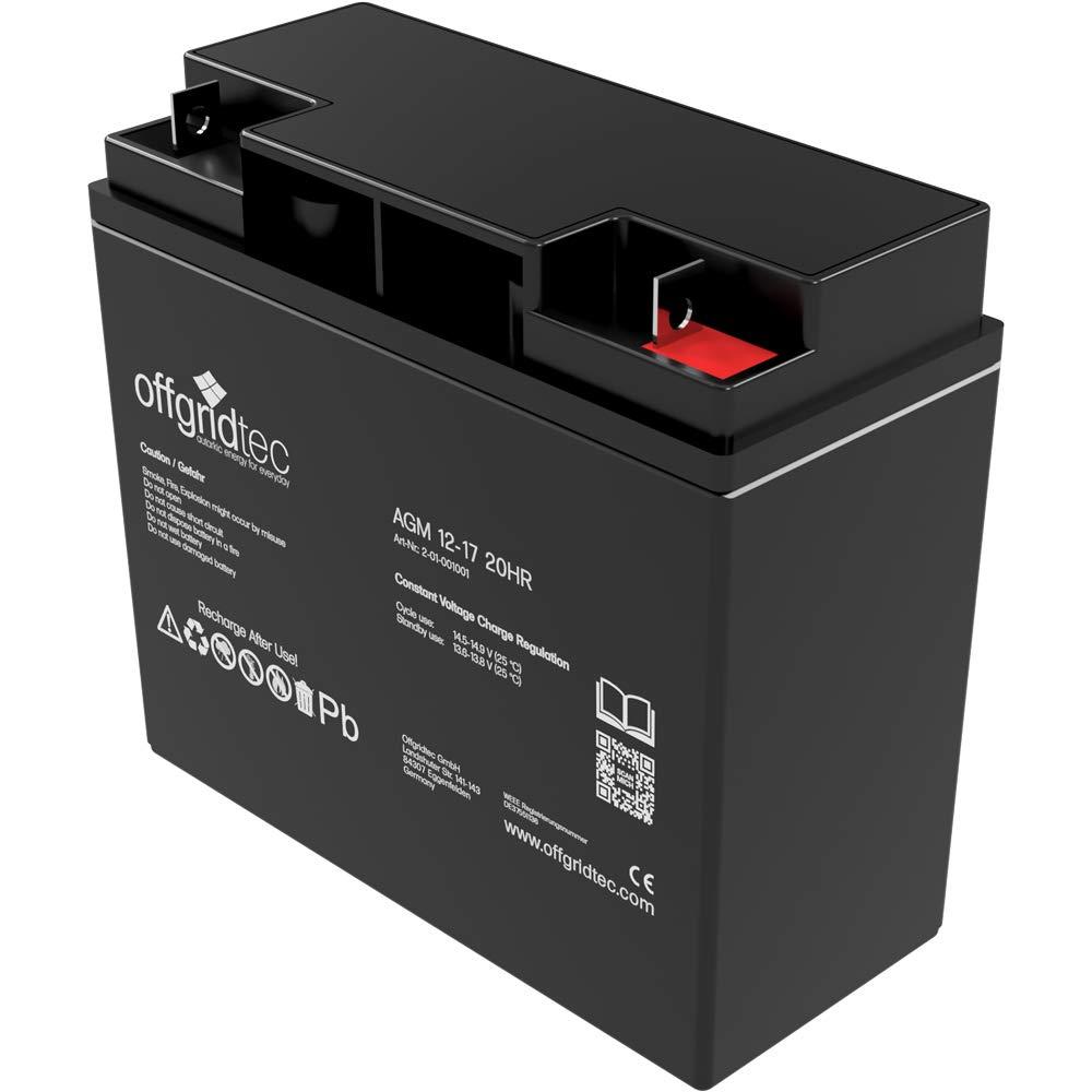 Offgridtec AGM Solar Battery for Cyclic 17/Ah 12/V 2//001001