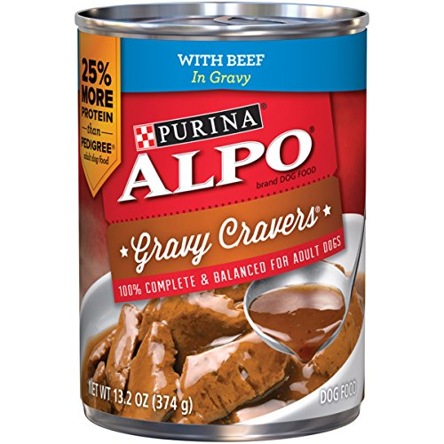 Purina ALPO Gravy Cravers With Beef in Gravy Dog Food - (12) 13.2 oz. Pull-top Can